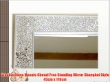 Crackle Glass Mosaic Cheval Free Standing Mirror Shanghai Style 45cm x 170cm