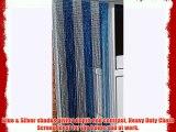 'BLUE/SILVER' - Premium Aluminium Chain Blind/ Screen Blind/ Insect Screen/Chain Screen/Fly
