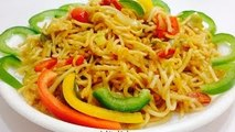 Vegetable Hakka Noodle-Veg Chow Mein-Chinese Noodles in Indian Style