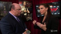 Stephanie McMahon and Paul Heyman Backstage Segment