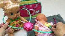 Baby Alive se Kit Bébé Poupée Sac de Médecin Nenuco Poupée Bébé nouveau-né Visite chez le Médecin Jouet Vidéos