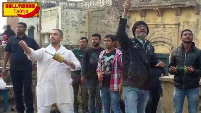 Aamir Khan Celebrates Makarsankranti On Dangal Sets, Flies Kites With Locals !