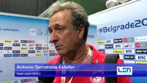 Interviews after Montenegro won by 15:6 against Slovakia – Men Preliminary, Belgrade 2016 European Championships