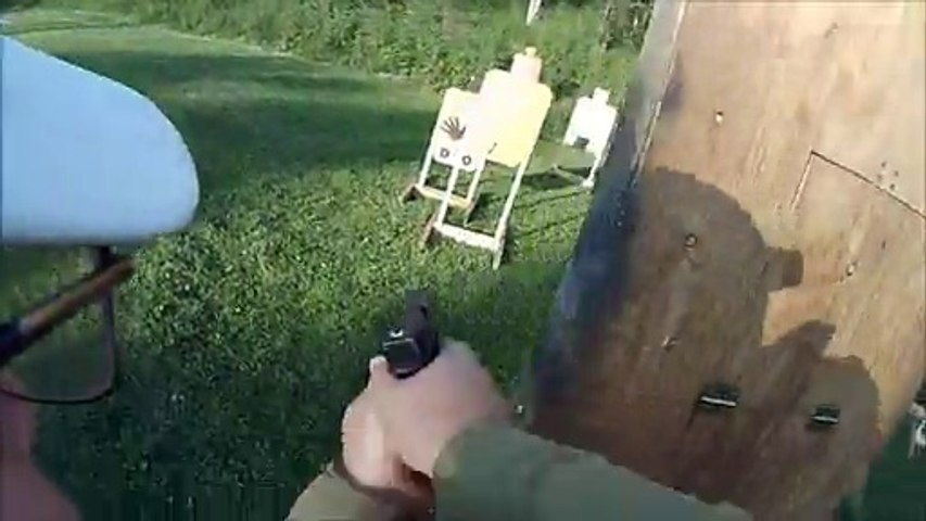 IDPA match shooting my Glock 17 at the Hibbing Minnesota range 2012 Stage 3