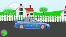 Voiture de Police 6. Des voitures. De droles de dessins animes pour les enfants  Fun Fan FUN Videos