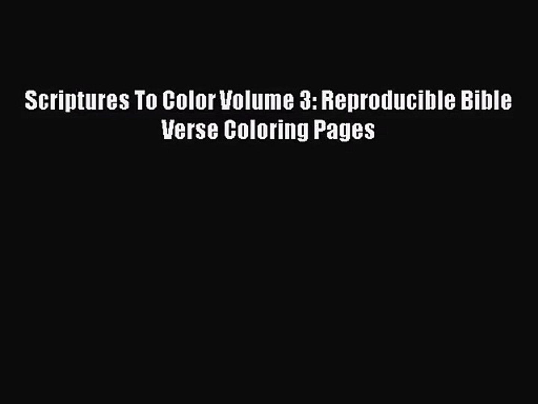 - PDF Download] Scriptures To Color Volume 3: Reproducible Bible
