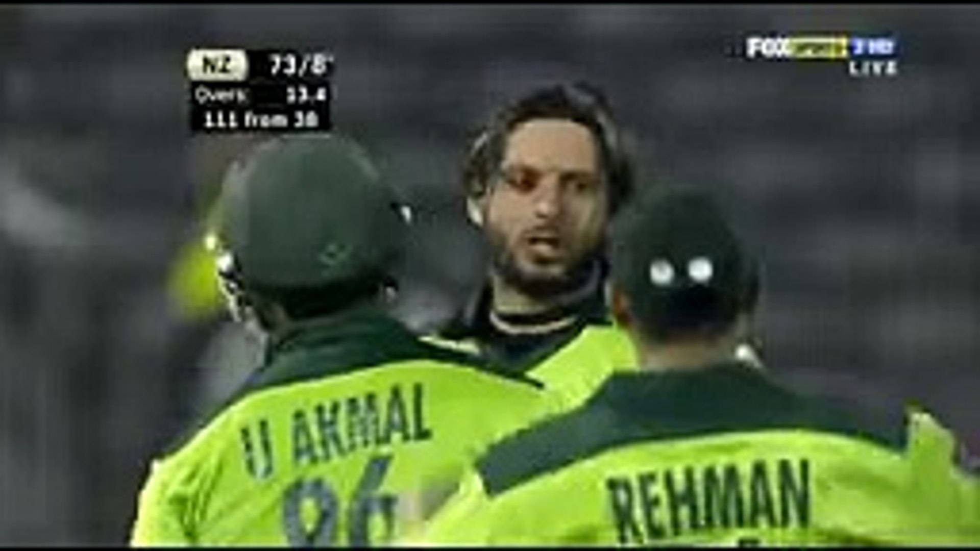 A spinner with 134 km/h speed. Only Shahid Afridi can do this. Afridi against New Zealand at 134 km/