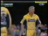 Amazing power of Shahid Afridi. One handed massive six to Shane Watson in huge Australian ground. Rare cricket video