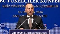 Gaziantep Dışişleri Bakanı Mevlüt Çavuşoğlu 8'inci Büyükelçiler Konferansı'nda Konuştu