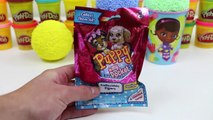Doc McStuffins Spille Skum Overraskelse Kopper Shopkins Sesong 3 Hello Kitty Blind Poser og Overraskelse Egg!