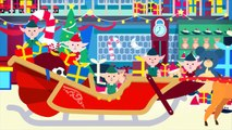 Five Little Elves Jumping on the Sleigh Song | Christmas Songs for Kids | 5 Little Elves