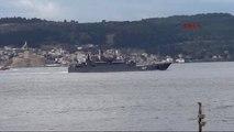 Çanakkale Rus Savaş Gemisi 'Minsk' Çanakkale Boğazı'ndan Geçti