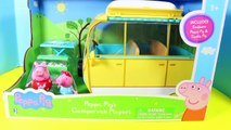 Peppa Pig Holiday Campervan - Play Doh Picnic with Mommy Daddy - Autocaravana Camper Van P