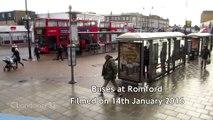 Buses at Romford, East London January 2016
