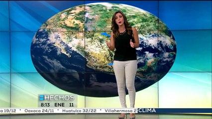 Pronóstico del tiempo con Vaitiare Mateos (3)  Lunes 11 de enero 2016