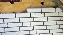 --) Ich beim Mauern-Klinkern einer Großen Weißen Villa,Mason, Construction site, Bricklayer