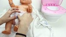 Bébé Poupée Magique de la Formation de Pot un Caca et Pipi Nenuco Fille de Bébé de Couche-culotte de Pot de Temps Jouet Toilettes Jouet Vidéo