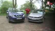 Video VW Sportsvan vs Nissan Qashqai