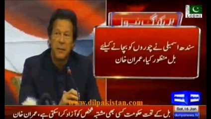 Any criminal can be released, Bill is to protect thieves, PTI strongly opposes Sindh Assembly Bill: Imran Khan