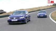 Volkswagen Golf R vs Volkswagen Scirocco R en circuito