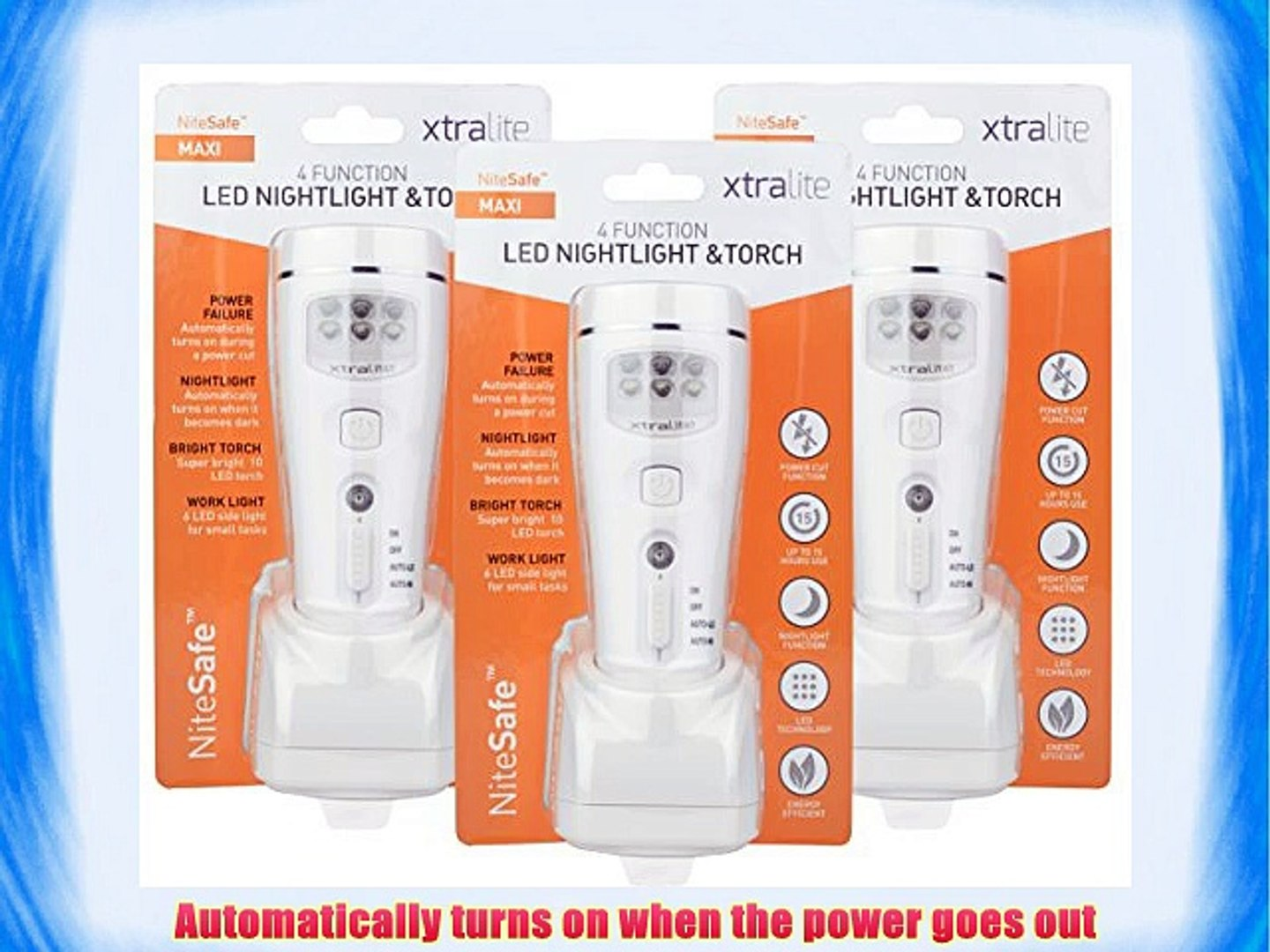 Ivation Emergency Automatic Failure 6-LED Light-Rechargeable Lithium Ion battery