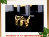 Star 59 x 85 cm 3D Rope Light Silhouette Reindeer Grazing with 432 Warm White LED