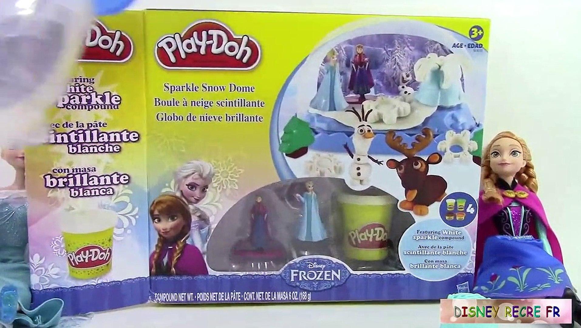 Pâte à Modeler Play Doh Reine Des Neiges Frozen Boule à Neige Scintillante Sparkle Snow Dome