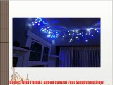 480 LED Blue and White Indoor Outdoor Hanging Snowing Icicle String Light Christmas Party Wedding