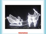 OUTDOOR 1.53M Reindeers with Sleigh LED Rope Light Sculpture - Bright LED Rope Light