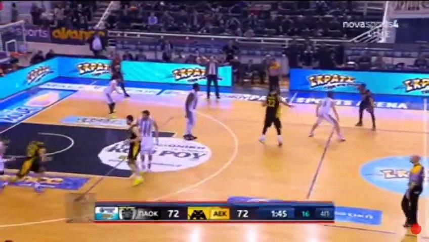 ΠΑΟΚ ΑΕΚ 79-75 Μπασκετ Ελλαδος  (16_1_2016)