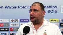 Interviews after Serbia won by 10:5 against Slovakia – Men Ranking Round, Belgrade 2016 European Championships