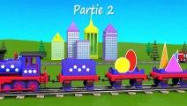 Dessins animés éducatifs. Apprenez les formes géométriques avec le train Tchou-Tchou - 2 !  Fun Fan FUN Videos