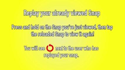 Snapchat How to Replay  - Snapchat Tip #4