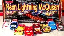 Pixar Cars Neon Speed Lightning McQueen,Migual Camino, Raoul Caroule and Shu Todoroki 4 Ca