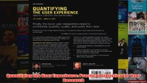 Download PDF  Quantifying the User Experience Practical Statistics for User Research FULL FREE
