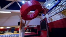 Extreme basketball dunks by the Dunking Devils!