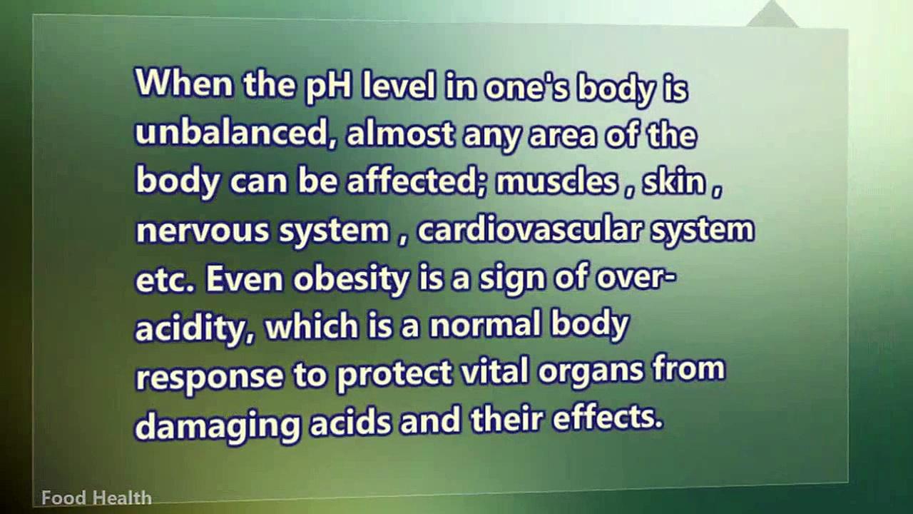 Health Food Nutrition – Alkaline Food List To Avoid Obesity