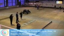 Troisième tour, tir rapide en double, Club Elite Masculin J8, Romans vs Montélimar, Sport-Boules, saison 2015-2016