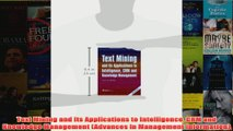 Download PDF  Text Mining and Its Applications to Intelligence CRM and Knowledge Management Advances in FULL FREE