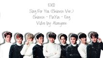 EXO Sing For You (为你而唱) Chinese Ver. (Color Coded Lyrics Chinese/PinYin/Eng)