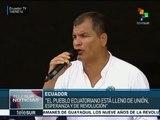 Correa agradece a los ecuatorianos por logros revolucionarios