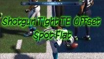 Madden 15 Money Play | Shotgun Tight Tight End Offset: Spot Flat