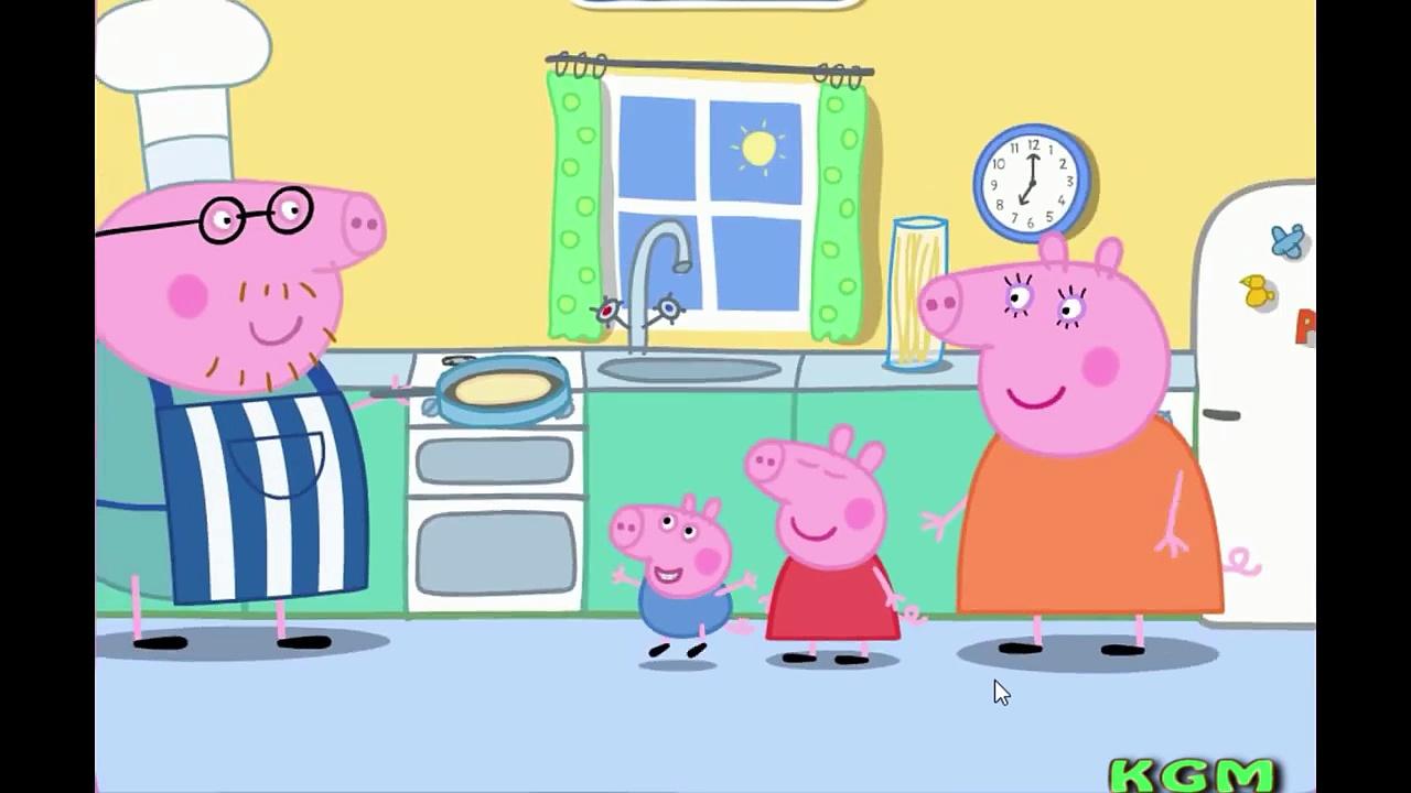 Peppa Pig Full Episodes – Daddy Pigs Pancake Game   Peppa Pig English Episodes