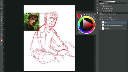 Speed Drawing: The Hunger Games: Catching Fire -Peeta HD