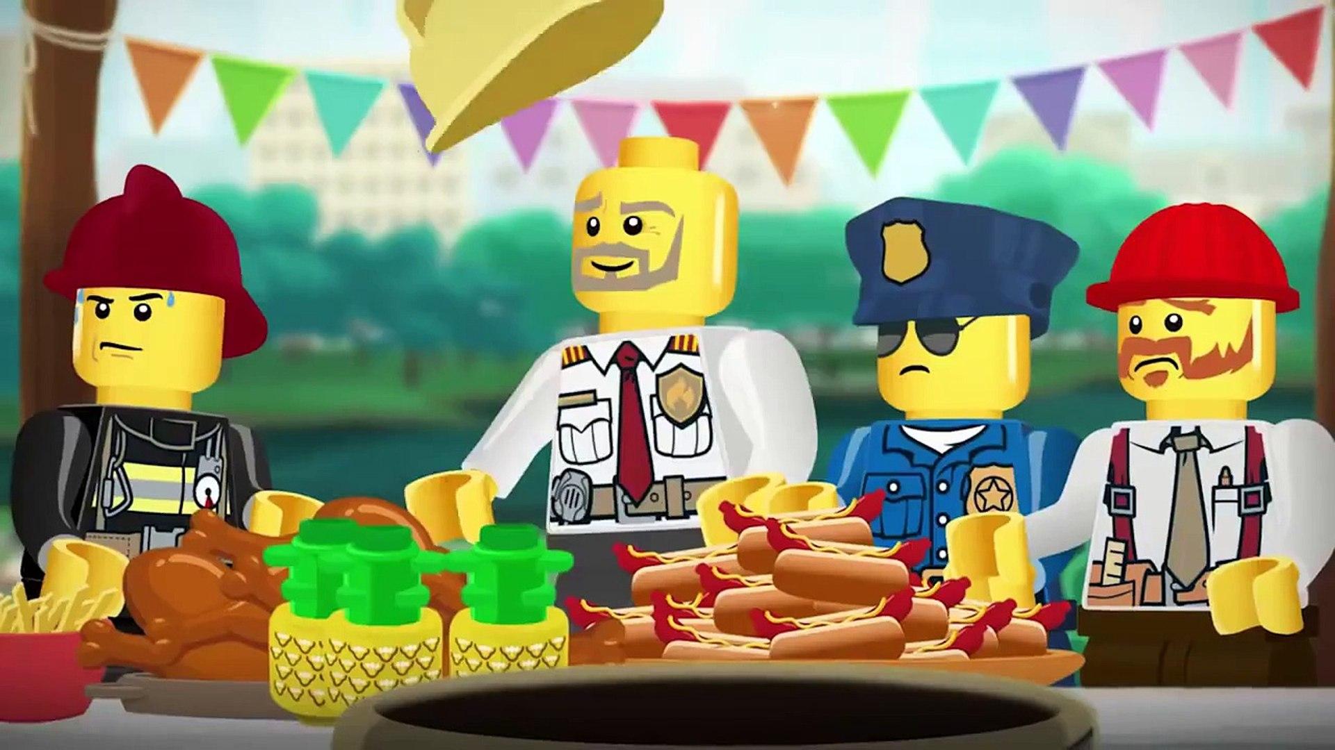 Лего Сити Мэшап Начальник пожарной охраны. LEGO City Movie Mixer Mashup Fire Chief's Day