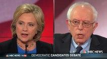 Clinton and Sanders trade blows over healthcare at democratic debate - video