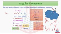 Angular Momentum &Law of conservation of Angular Momentum