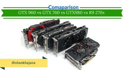 GTX 960 vs GTX 760 vs GTX 980 vs R9 270X Performance Comparison