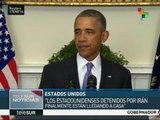 Obama: Logramos liberar a ciudadanos de EE.UU. presos en Irán