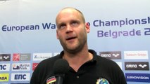 Interviews after Germany won by 16:15 against Slovakia – Men Ranking Round, Belgrade 2016 European Championships